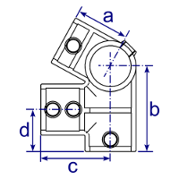 Dimensions Image 2 - 185 - Eaves Fitting 27½°