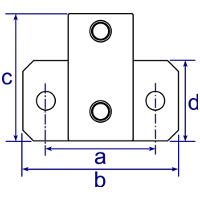 Dimensions Image 1 - 245 - Heavy Duty Side Support (Horizontal Base)